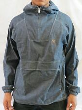 Puma Mens Pullover Jacket Hoodie Large L Denim Color Brand New with Tags
