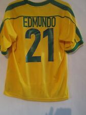 Brazil 1998-2000 Home Edmundo 21 Football Shirt Size Medium /40958