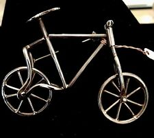 Sterling Silver Bicycle Pin/Brooch W/moving Weels Turning Handlebars!