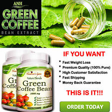 2 GREEN COFFEE BEAN EXTRACT 100% PURE WEIGHT LOSS FAT BURNER DIET DETOX ORGANIC#