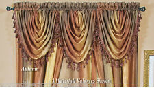 Ombre Waterfall Sheer Window Valance -Autumn