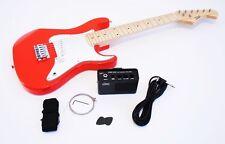 1/2 Niños guitarra eléctrica Juego con amplificador y accesorio, roja