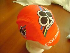 COLNAGO CYCLING CAP ITALIA HAT CAP POLYESTER SUBLIMATED UV RAY PISTA FIXED RED