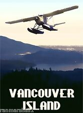 Canada Vancouver Island British Columbia Canadian Travel Advertisement Poster