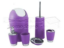 Bath accessory sets ebay for Purple bathroom bin