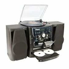 Anders Nicholson 3-CD AM/FM Stereo System - Dual Cassette Decks AUX & Turntable!