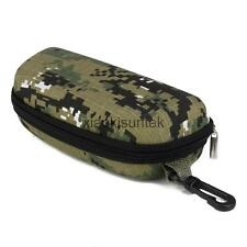 Shockproof Eye Glasses Box Sunglasses Zipper Pouch Case with Hook Camouflage