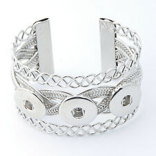 New Chunk Punk Metal Bangle bracelets drill fit for Noosa Snaps Charm Button A-1