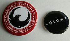LOS ANGELES COLONY / TRANSITIONAL AUTHORITY & COLONY Light Metal Pin/Badge