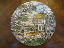 "Myott 10"" Hand Engraved Permanent Colour Plates, The Hunter, No Sale Tax"