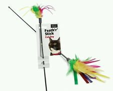 Feather Tickler Cat Toy | Cat Teaser | Feather Cat Toy Feather Stick Cat Toy x 2