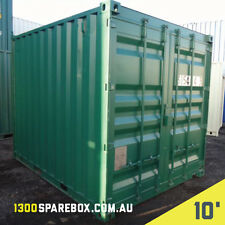10FT SHIPPING CONTAINER -  SITE SHED OR STORAGE SHED - WITH LOCKBOX