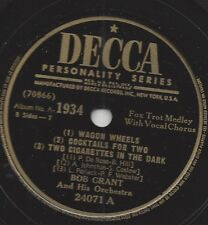 Bob Grant and his Orchestra 1934: Solitude + Lost In A Fog + vagone wheels