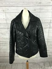 Womens Rocha John Rocha Faux Leather Biker Jacket - UK10 - Great Condition