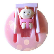 FD3166 Silicone Swing Baby Girl Fondant Chocolate Sugar Craft Cake Baking Mold♫