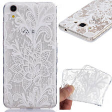 Skid Lace Flowers Pattern TPU Soft Back Cover Case For Various Mobile phones