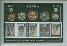 Lady Diana Spencer Princess of Wales Commemorative GB Coin & Stamp Gift Set 1997