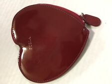 Authentic FURLA Heart Motif coin purse, red patent leather case, wallet