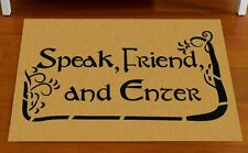 Door mat Speak, Friend, and Enter - Lord of the Rings