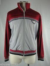 Vintage Shark Track Jacket - Men's Xl (Fits like Large) - Red Gray Black