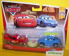 B2 - SALLY + Hudson Hornet Piston Cup McQUEEN  - #5 Wheel Weel Motel Disney Cars