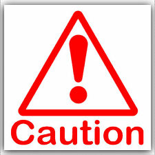 6 x Caution Stickers-Health and Safety Warning External Signs-Triangle Logo