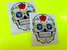 SUGAR SKULL The Day of the Dead Van Car Novelty Stickers Decals 2 off 70mm