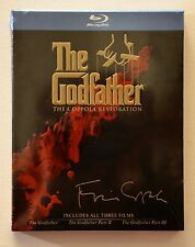 GODFATHER 3 Films w original art case MINT NEW BLU-RAYS Free First Class in U.S.