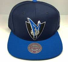 Dallas Mavericks Mitchell & Ness STA3 XL Logo Red Blue Snapback Hat Cap NBA