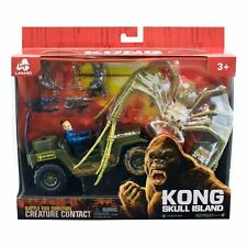 King Kong Skull Island Spider with Jeep and super amazing action Figure play set