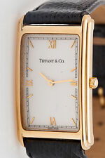 Estate $10,000 Tiffany & Co 18k Yellow Gold 42mm Mens Dress Watch 42g HEAVY