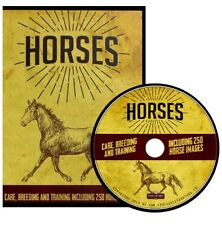 Horses ~ Their Care, Breeding and Training { 22 How To Books } ~ DVD Gift Set