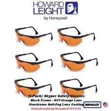 Uvex Skyper Safety Glasses, Black Frame, Orange Anti-Fog Lens #S1933X_6