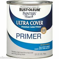 1 Qt Gray RustOleum Painters Touch Latex Interior/Exterior Paint Primer 1980-502