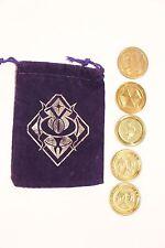 Exclusive Blizzcon 2016 Darkmoon Fair Purple bag 3 overwatch 2 hearthstone coins