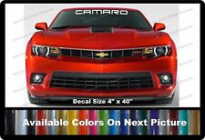 "Camaro Front Windshield Banner Decal Fits Chevy Camaro 4"" x 40"""