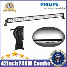 42inch 240W Philips LED Work Light Bar Flood Spot Jeep Boat Car SUV Driving Lamp