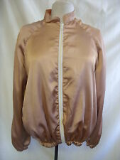 Ladies Jacket - Unknown, size M/L, silky, reversible, zip up, peach - 7720