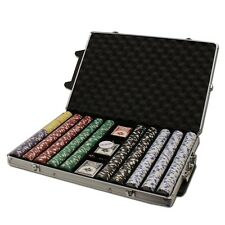 New 1000 Diamond Suited 12.5g Clay Poker Chips Set w/ Rolling Case - Pick Chips