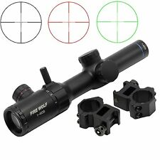 Green Red Illuminated 1-4x20 Hunting Riflescope With Range Finder Reticle Scopes