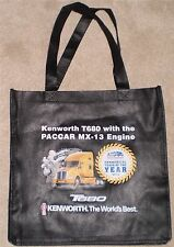 Black KENWORTH T680 T880 Semi Trucks Reusable Grocery Shopping Tote Bag