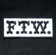 SONS OF OUTLAW F.T.W. FTW F THE WORLD BIKER ANARCHY GANG JACKET IRON ON PATCH