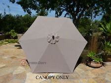 9ft Patio Outdoor Market Umbrella  Replacement  Canopy  Cover Top 6 ribs.Taupe