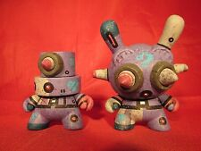 """Kidrobot 3"""" Custom Dunny & Fat Cap By mike die Rare One of a kind 2013"""