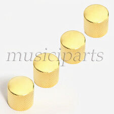4 Gold Metal Guitar Dome Control  Knob For Fender Tele guitar replacement
