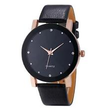 New Men's Fashion Quartz Sport Military Stainless Steel Dial Leather Wrist Watch