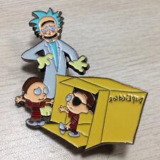 Calvin and Hobbes - Rick and Morty Mashup - Duplicator - Hat Pin