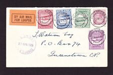 SOUTH AFRICA 1925 AIR SET ON COVER.