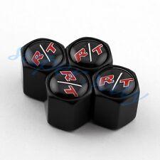BLACK Wheel Tire Valve Stem Air Caps Durango Caliber Avenger Challenger R/T RT