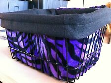 BICYCLE BASKET LINER PURPLE ZEBRA NEW!